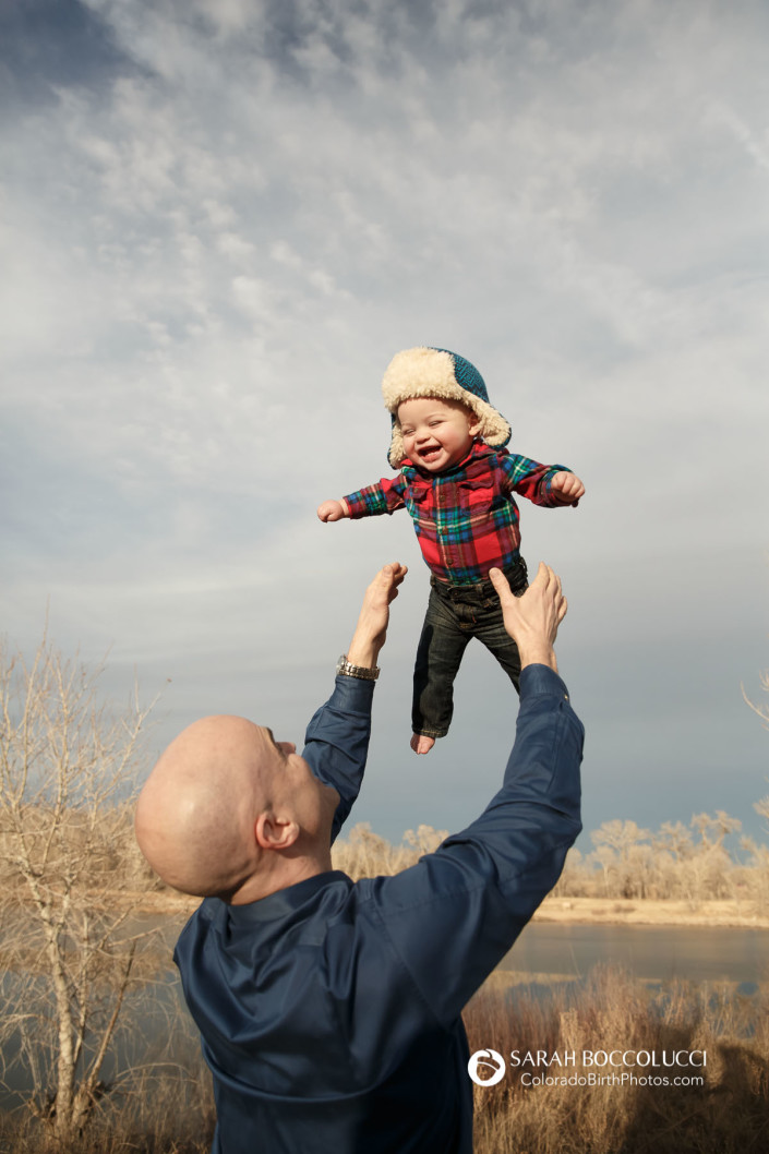 Fort Collins Colorado Family Photographer Baby In Air