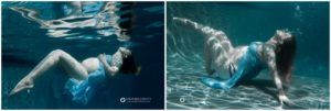 Boulder, Colorado Underwater maternity photography, Outdoor pool