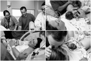right after baby is born in the hospital
